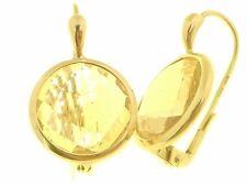 Orecchini Citrino Monachella Monachina Donna Oro Giallo 18 kt Carati 750 7,5Gr