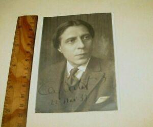 ALFRED CORTOT PIANIST PHOTO ORIGINAL SIGNED FOTO  1933 CON AUTOGRAFO