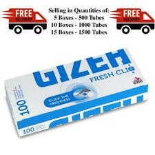 NEW Gizeh Fresh Cliq Click Tubes - 5 / 10 / 15 Boxes - 100 Tubes a Box