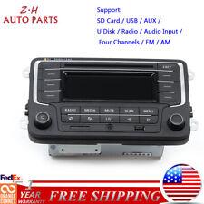 Car FM/AM Radio USB AUX MP3 SD Card Fit For VW Golf Jetta MK5 Tiguan Passat EOS