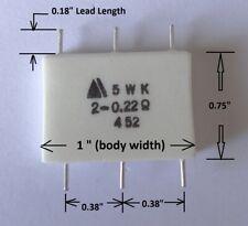 1 pc dual 0.22 ohm, 5W emitter resistors