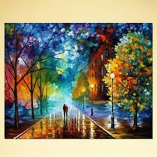 Street DIY Digital Oil Painting Paint by Numbers On Canvas Home Room Decoration