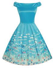 Lindy Bop Christie laderas de Esquí Azul Vestido Talla 22-BNWT-impresionante vestido