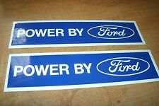 POWERED BY FORD ENGINE VALVE COVER DECALS NEW PAIR BLUE WHITE AIR CLEANER VALVE