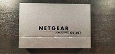 Netgear Prosafe Gs108T V2 8 Port Gigabit Smart Switch w/Ac Adapter Free Shipping