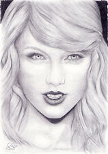Arte Original. Taylor Swift Retrato. por Simon campo.