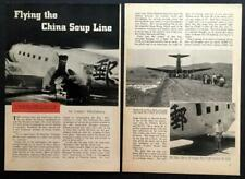 """Cnac Wwii 1943 pictorial """"Flying the China Soup Line"""" China National Aviation"""