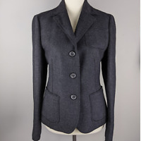 Akris Punto Size 6 Grey Wool Button Down Blazer Jacket
