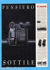 QUATTROR993-PUBBLICITA'/ADVERTISING-1993- CANON UC15