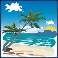 30 Custom Beach Landscape Personalized Address Labels