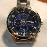 Mans Seiko Chronograph  4T57-00H0 Wristwatch