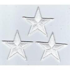 LOT 3 ECUSSON PATCH THERMOCOLLANT PETITE ETOILE BLANC BLANCHE DIM. 4,5 X 4,5 CMS