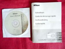 guide de demarrage rapide  du nikon coolpix S220 / S225  + CD user's manuel