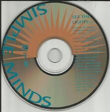 SIMPLE MINDS See the Lights RARE ORIGINAL 1991 USA PROMO Radio DJ CD single MINT