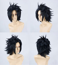 Zack Fair 30cm Black Styled Wig Game Final Fantasy VII FF7 Cosplay Wigs E079B