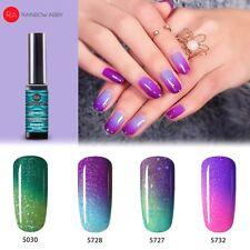 Thermo UV Nagellack Nail Gel Polish chamäleon Farbwechselnd 4 farben Set violett