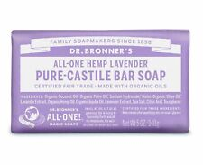 DR BRONNER FAIRTRADE PURE LAVENDER CASTILE SOAP 140g - CRULETY FREE