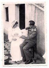 photo ancienne soldat allemand ,mariée ?  ww2 (ph33)