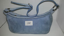 UGG Womens Handbag Purse Blue Shearing Suede Size 10X5 Adjustable Strap