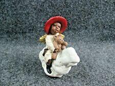 "All God'S Children By Martha Holcombe 1993 ""Boy On Cloud"" Ornament Figurine"