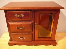 Vintage Wood Jewelry Box Dresser Style Gunther Mele