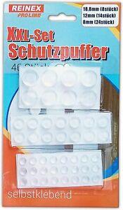 46x SCHUTZPUFFER Ø 8/12/18,8mm selbstklebend klar Anschlagdämpfer Gummipuffer 02