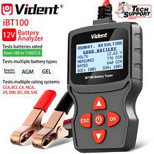 12V Car Battery Analyzer GEL 100-1100CCA Automotive Tester Diagnostic Tool USA