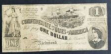 $1 Confederate States of America 1862