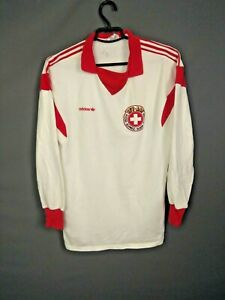 Switzerland Jersey Match Worn 1986 Shirt Long Sleeve Trikot Football Adidas ig93