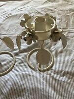 Cream floral metal candle holders set of 2