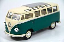 """7"""" Kinsmart 1962 VW Volkswagen Bus Diecast Model Toy Car Van 1:24 Green"""