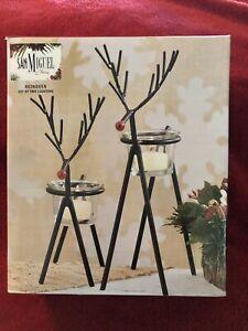 Rustic Iron Reindeer Tealight Holders by San Miguel - Set/2