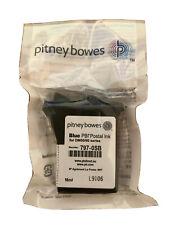 More details for original sealed pitney bowes,dm50/dm60 blue franking ink cartridge 797-0sb