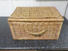 Vintage Retro Wicker Case Picnic Basket Hamper Suitcase Storage Home Decor car