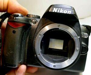 Nikon D60 10MP Digital SLR Camera - Black (Body Only) - tested works good