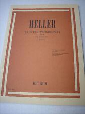 Heller  25 studi op. 45 per pianoforte edizione Ricordi