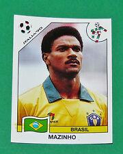 N°195 MAZINHO BRESIL BRASIL PANINI COUPE MONDE FOOTBALL ITALIA 90 1990 WC WM
