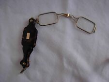 ANTIQUE FRENCH FAUX TORTOISE SOLID SILVER FOLDING EYES GLASSES,LATE 19th.