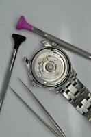Omega Watch Servicing Battery Change 2 Year Warranty Quartz to Co-axial 1940-Now