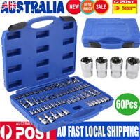 60Pcs Male Female Torx Star Socket & Bit Set E & T SocketsTorx Bits Tool Kit