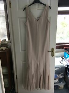 Ladies Long Beige Evening/party Dress Size 18 From Kaleidoscope