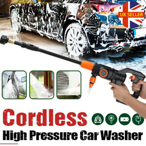 Portable Electric Cordless Pressure Washer Power Jet Water Car Cleaner + Battery