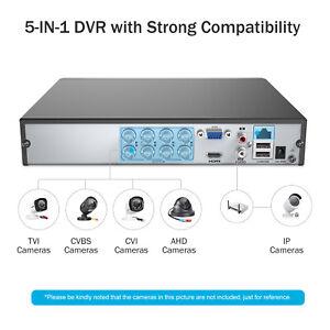 ANNKE 5IN1 5MP Lite 8CH DVR Recorder Surveillance Security System Remote IP66 UK