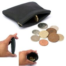 REAL Leather Coin Pouch | STRONG Metal Spring Closure | Snap Top Coin Purse