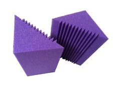 6 X New Item Corner Bass Trap Foam in Purple Acoustic foam For Music Studio Room