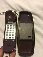 Vintage Brown Slimline - Telephone Desk Top - AT&T Phones