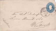 United States 1892 Brooklyn NY to Westernik Sweden Cover VGC