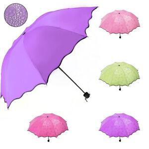 Windproof Anti-UV Sun Rain Umbrella Protection Magic Flowers Compact Parasols