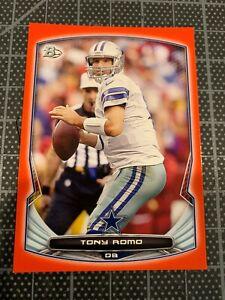 2014 BOWMAN #69 TONY ROMO DALLAS COWBOYS RED FOOTBALL CARD 13/25
