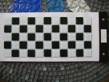 Crystal Glass Mosaic Tiles - Black & White - Kitchen Splash back/Feature wall
